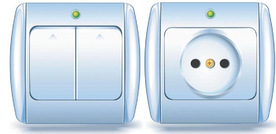 розетка и выключатель Makel